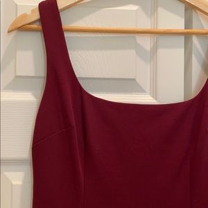 BHLDN Dresses - BHDLN LucyDress, Maroon square-neck fitted f